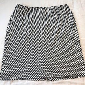 Coldwater Creek Basketweave Print Pencil Skirt